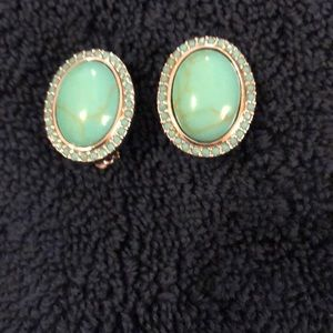 Simulated Turquoise clip on earrings ❇️❇️❇️